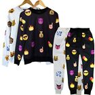 S-XL Men Women EMOJI Print Funny Autumn Sweatshirt Tops 3D Jogger Pants Set