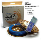 Cortland CLASSIC 444 BLUE INTERMEDIATE Fly Fishing Line + 3x FREE Leader Loops