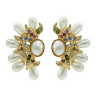 4 Color Rhinestone Crystals Zircon Drop Flower Earring Wedding  SEA0907