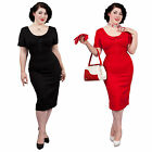 Glamour Bunny Pan Pinup Vintage Hourglass 1950s Fitted Pencil Wiggle Dress