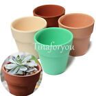 1~5 Terracotta Pot Clay small plant Ceramic Pottery Planter Flower Pots Decor UK