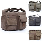 New Men's Vintage Canvas Military Satchel Messanger Bag Cross Body Shoulder Bag