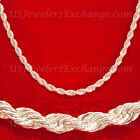 925 SILVER PLATE GP 5m FRENCH ROPE SIZE CHOICE CHAIN NECKLACE CLEARANCE *213