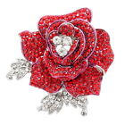 Art Deco Lovely Flower Rose Brooches Pins for Gifts Prom Austrian Crystal FB1077
