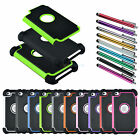 For iPod Touch 4G Matte Heavy Duty Rubber Dual Layer Rugged Case Cover + Stylus