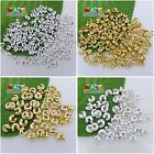 Gold Silver Plated Conceal Crimps Knot Covers End Beads Findings DIY 3mm,4mm,5mm