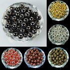 Silver Gold Gunmetal Plated Seamless Round Spacer Beads Jewelry Findings