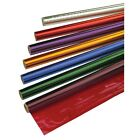 4.5m Roll Florist, Gift Cellophane Film Wrap 50cm Wide Metallic Colours