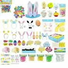Small Wooden Easter Eggs & Hanging Bunny Party Decorations Hunt Tree Decorating