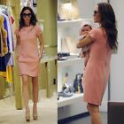Fashion Women Classic Casual Short Sleeve Round Neck Zipper Dress New Reliable