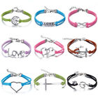 New Hot Jewelry Fashion Lots Style Leather Unsex Charm Friendship& Love Bracelet
