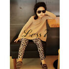 Girls Pants Leggings Leopard Print Chirstmas Gift Child Clothes Size 1-6Yrs K0E1
