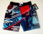 LEGO DARTH VADER Star Wars UV-50 Bathing Suit Swim Trunks NWT Boys Size 6/7  $25