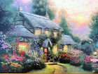 """Thomas Kinkade Julianne's Cottage RETIRED 9"""" x 12"""" Classic Edition Framed Canvas"""