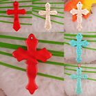 Free Shipping 29X44MM Multi-color Turquoise Cross Beads Pendant 1Pcs LK002-021