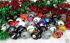 NFL FOOTBALL HELMET TEAM CHRISTMAS ORNAMENT with WIRE HOOK! - PICK YOUR TEAM! $7.1 USD on eBay