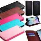 For Samsung Galaxy S6/S6 Edge Leather Flip Wallet Case Cover Stand Black