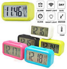 Smart Digital Alarm Clock w/ LED Screen Night Light Sensor Calender Temperature