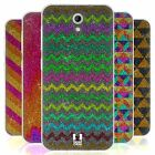 HEAD CASE GLITTERING PATTERNS SILICONE GEL CASE FOR HTC DESIRE 620