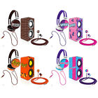 Candeez 3-IN-1 Stereo Combo Pack w/ Headphones, Earbuds & Mini Speaker Bundle