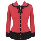 Womens New Coral Pink Vintage Retro 50s Rockabilly Pinup Cardigan Knitwear Top
