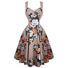 Womens New Floral Rockabilly 50s Vintage Pinup Party Prom Swing Dress