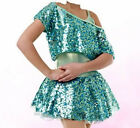 Plus Size Ballet Hip Hop Jazz Tap Dance Costume Adult L, XL, 2XL, 3 XL  Sequins