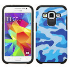 For Samsung Galaxy Prevail LTE HARD Hybrid Rubber Silicone Case Cover Accessory