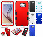 For Samsung Galaxy S6 IMPACT TUFF HYBRID Case Skin Phone Covers + Screen Guard