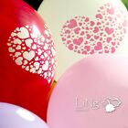 LiNg's Printed Dot Heart Latex Round Balloons Wedding Party Helium Love Decor