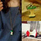 Hot Red/Green Fashion Apple Core Cute Pendant Retro Sweater Long Chain Necklace
