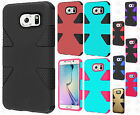 For Samsung Galaxy S6 EDGE IMPACT TUFF HYBRID Protector Case Skin Phone Cover