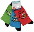 Boys Angry Birds Three Pack Socks sizes from size 9 junior to older boys size 9
