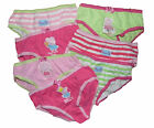 7 Pairs Girls Peppa Pig Briefs Underpants Knickers No Packaging Free Postage