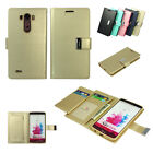 Goospery Dual Wallet Leather Book Flip Case Cover for Apple iPhone Samsung LG