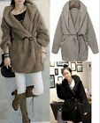 Womens Fashion Cardigan Hooded Causal Thick Warm Fluffy Outerwear Jacket Coats S