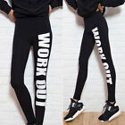 Women Dance Sport Running High Waist Stretch Footless Long Leggings Trousers