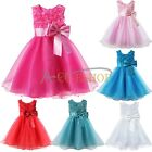 Girls Flower Princess Party Pageant Formal Christening Wedding Bridesmaid Dress
