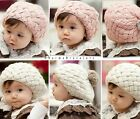1pc New Children Warm Winter Knitting Wool Crochet Beanie Soft Nap Kid Hat - CB