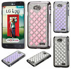 For LG Realm LS620 Diamond Desire Back BLING Case Cover Accessory + Screen Guard