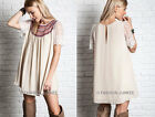 OFF WHITE 16 EMBROIDERED Baby Doll TUNIC Shirt DRESS Lace Bohemian Boho S M L