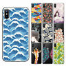 Cool Fashion Patterned Soft TPU Case Cover For iPhone SE 4S 5S 6S 5C 5 6 Plus