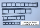 Negative Film Strip Photo Frame Die Cuts - Large and Small