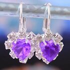 New Luxury Swarovski Crystal Premier Hoop Silver Earring Saucy Jewelry