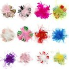 HOT Infant Baby Feather Pad headband Bow flower hair band FASCINATOR Accessorie