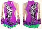 Rhythmic Gymnastics RG Leotard Acro/Ice skating dress Tap Costume Acrobatic Neon