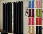 Ring Top Thermal Blackout Curtain Pair Energy Saving Eyelet Ready made Curtains