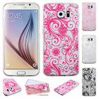 For Samsung Galaxy S6 TPU Four Leaf Clover Candy Gel Hard Skin Case Phone Cover