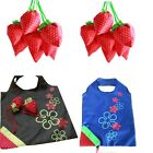 New Simple Strawberry Fruit Green Folding Convenience Shopping Bag Reliable