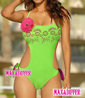 Sexy Corsage Hollow Out One Piece MONOKINI SWIMSUIT SWIMWEAR US SIZE M L XL